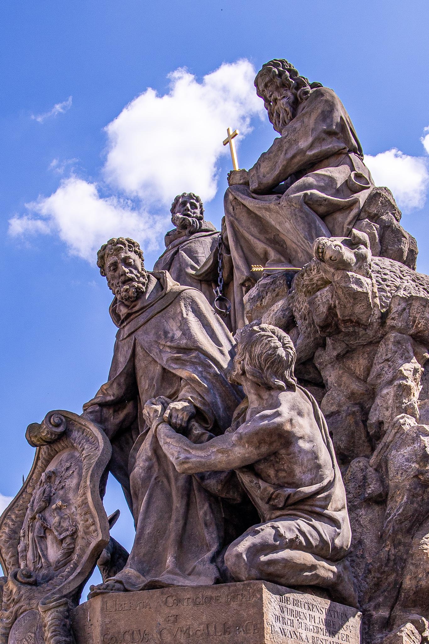 Statuary of St. John of Matha, St. Felix of Valois and St. Ivan