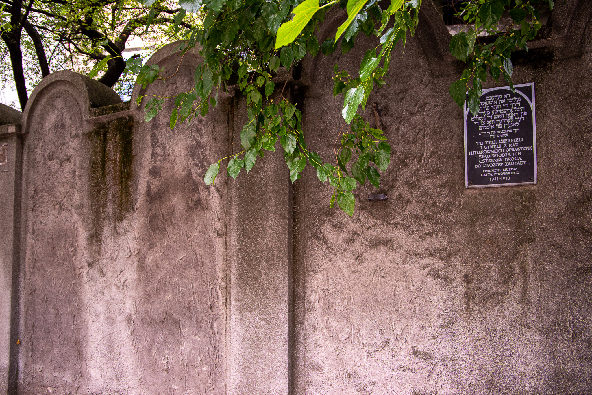 One of the last remaining sections of the ghetto wall