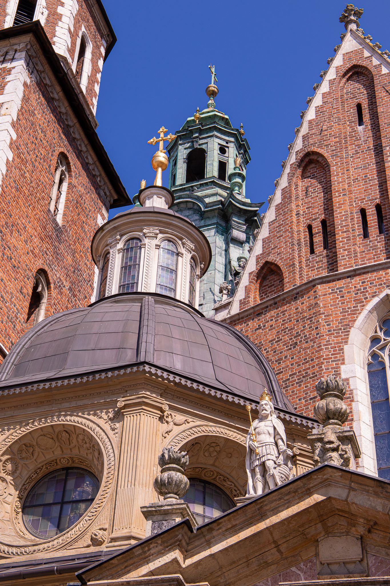Close up of Wawel Cathedral