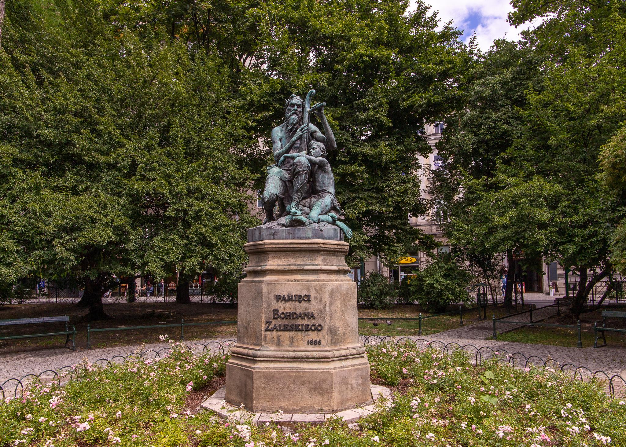 The Harper's Monument in memory of Bohdan Zaleski.