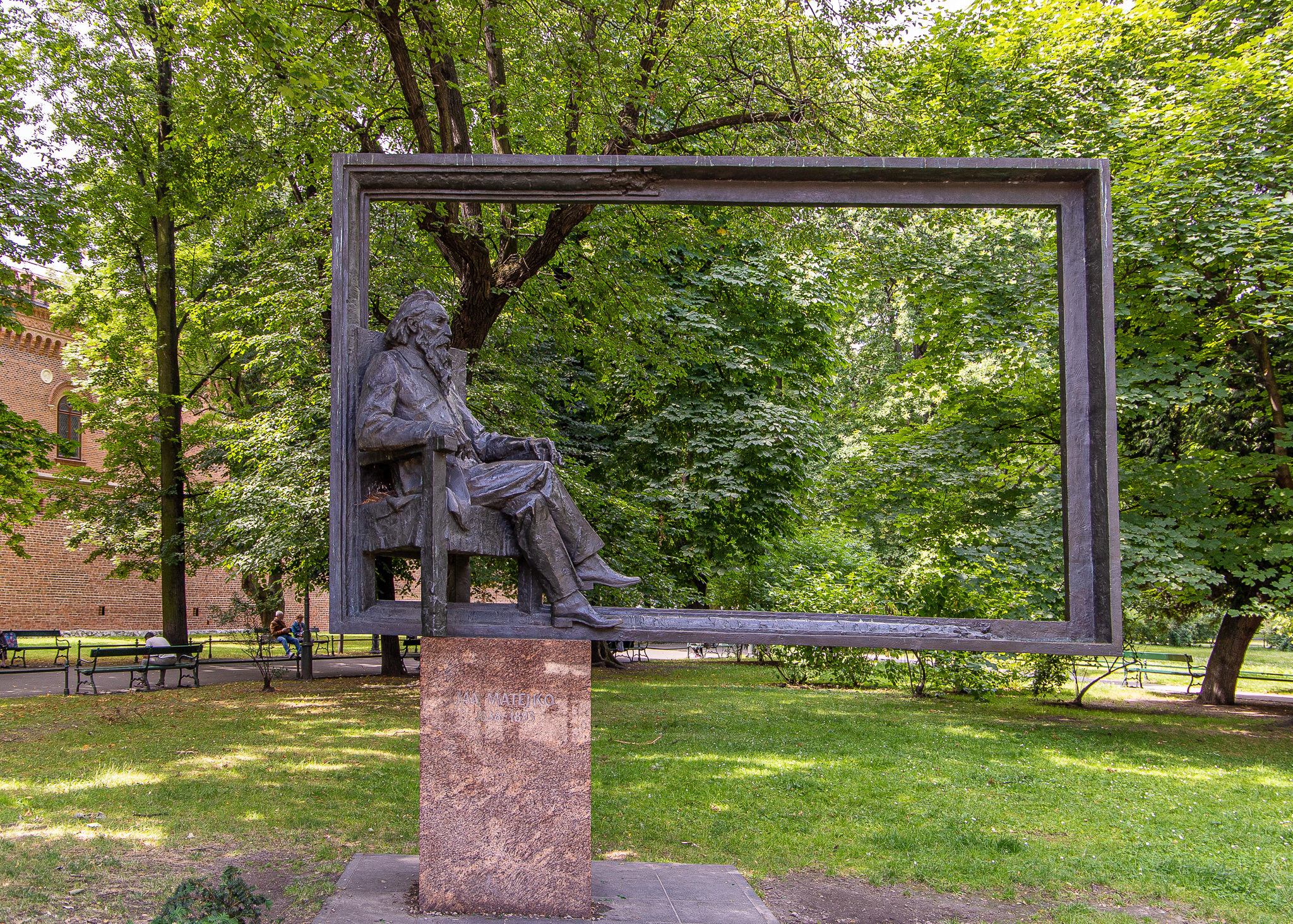 Statue of the famous Polish painter Jan Matejko