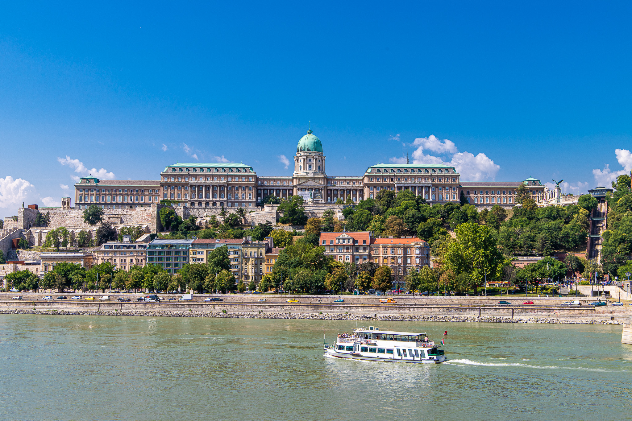 Buda Castle with the Funicular to the right