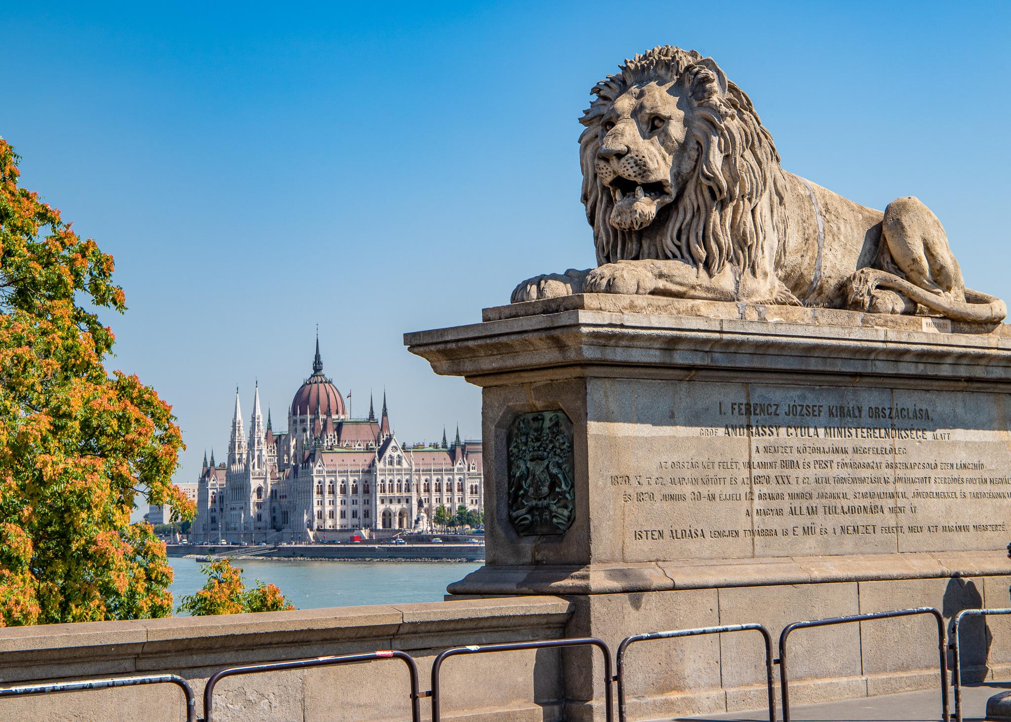 The bridge's lions