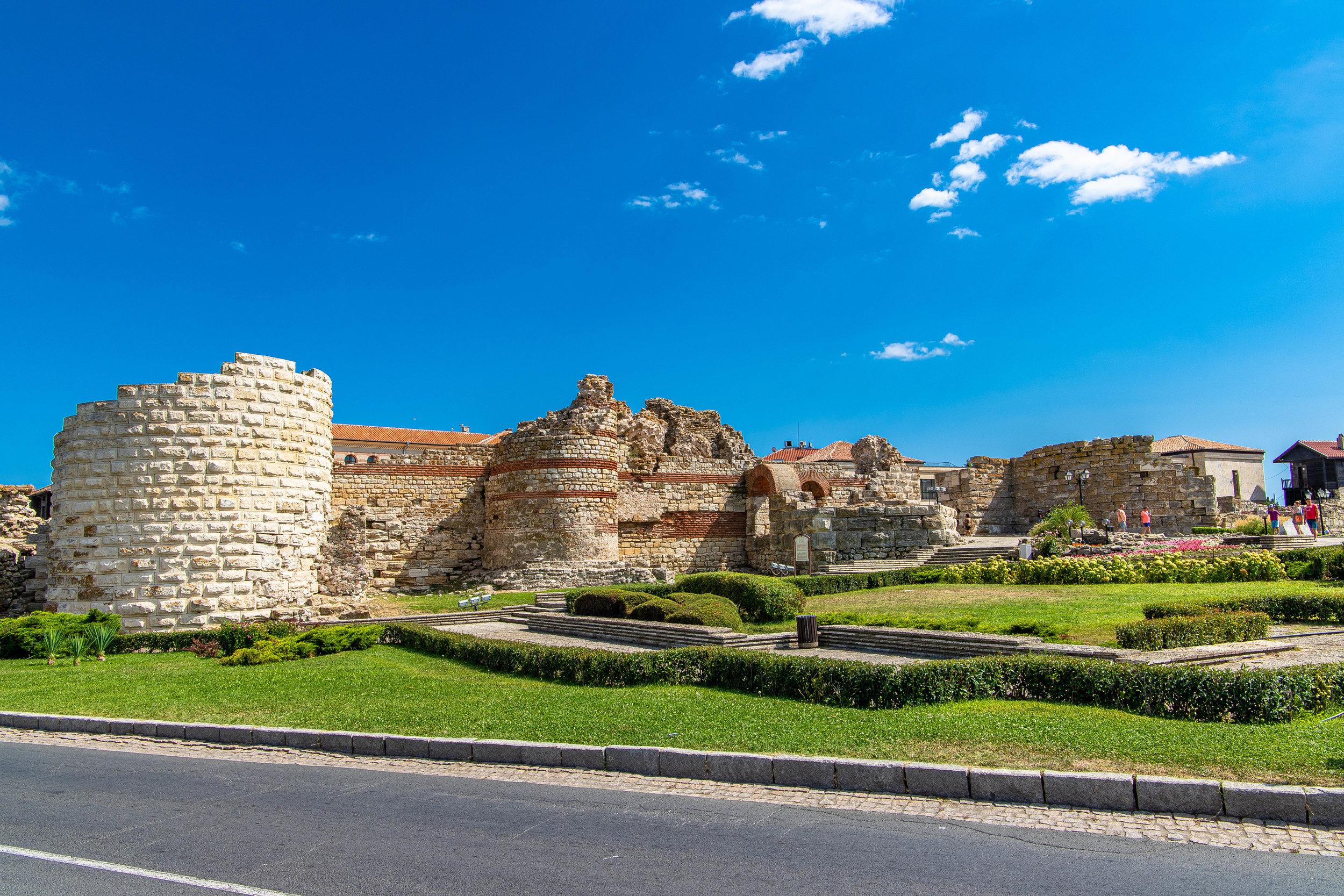 Defensive walls at entrance to Nesebar