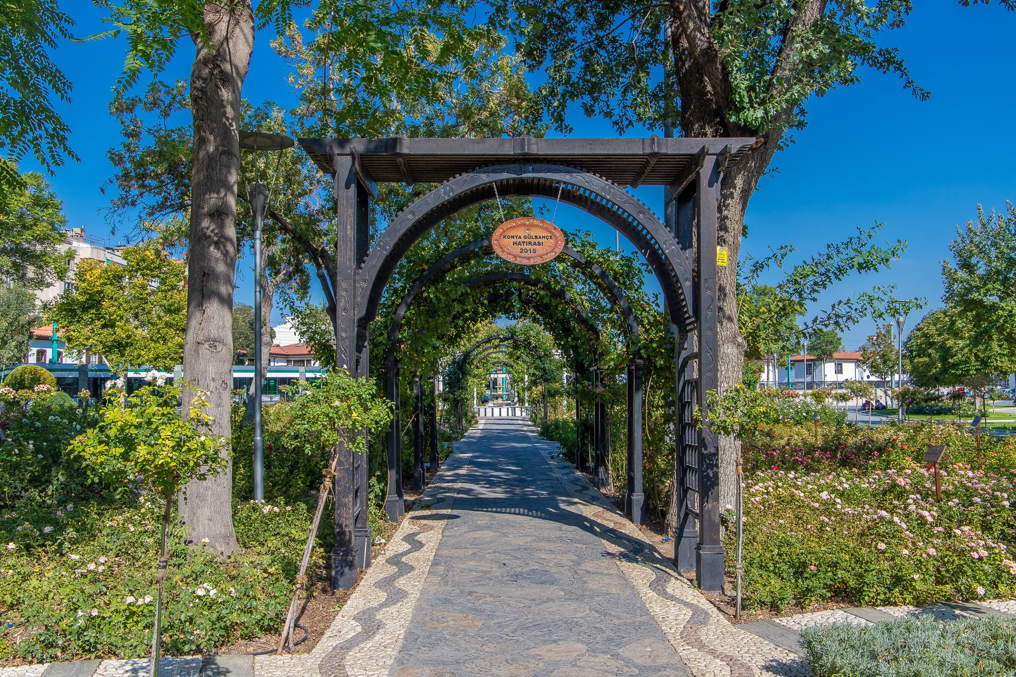 Garden walkway in Kultur Park