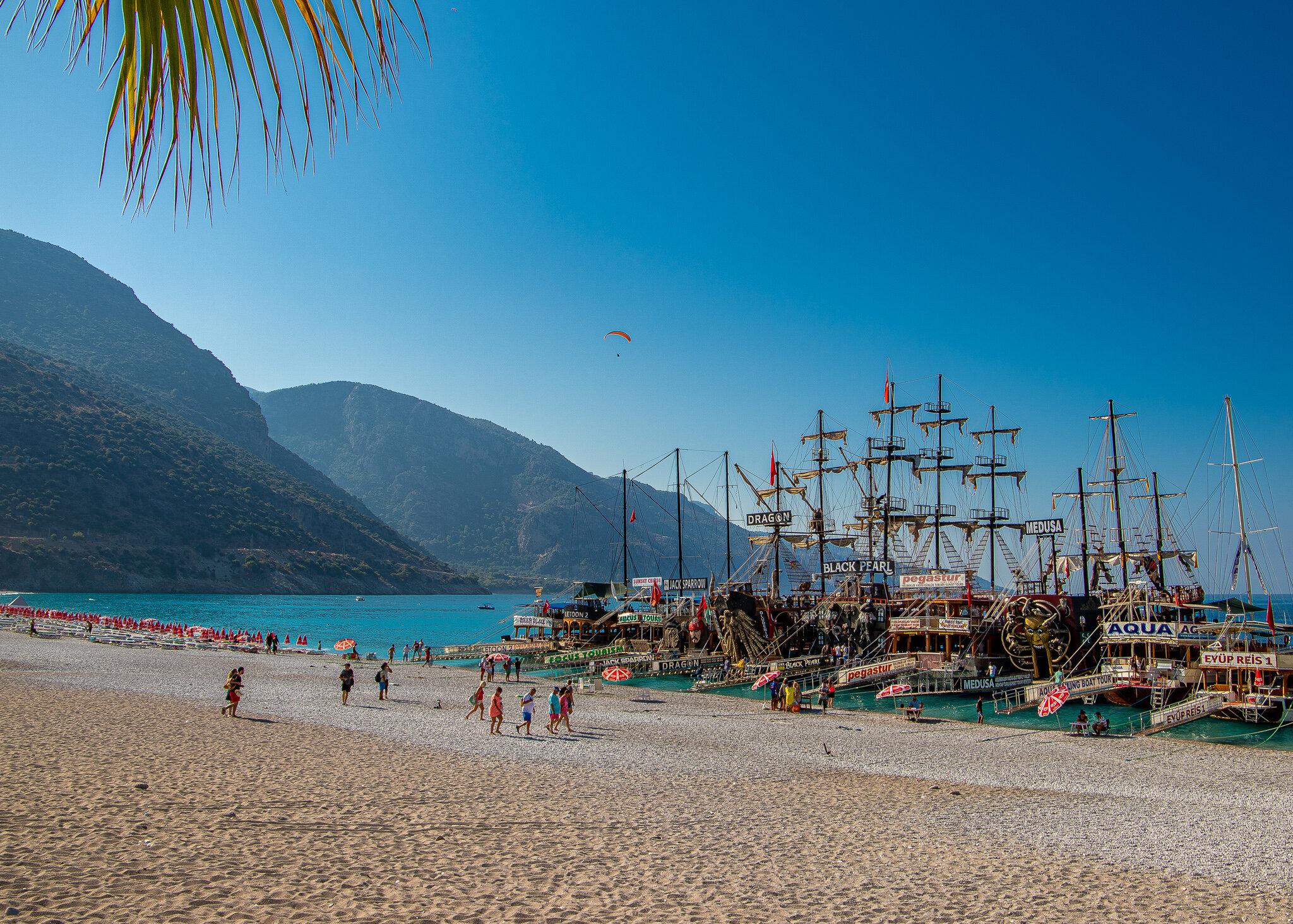 Pirate ships galore on Oludeniz Beach