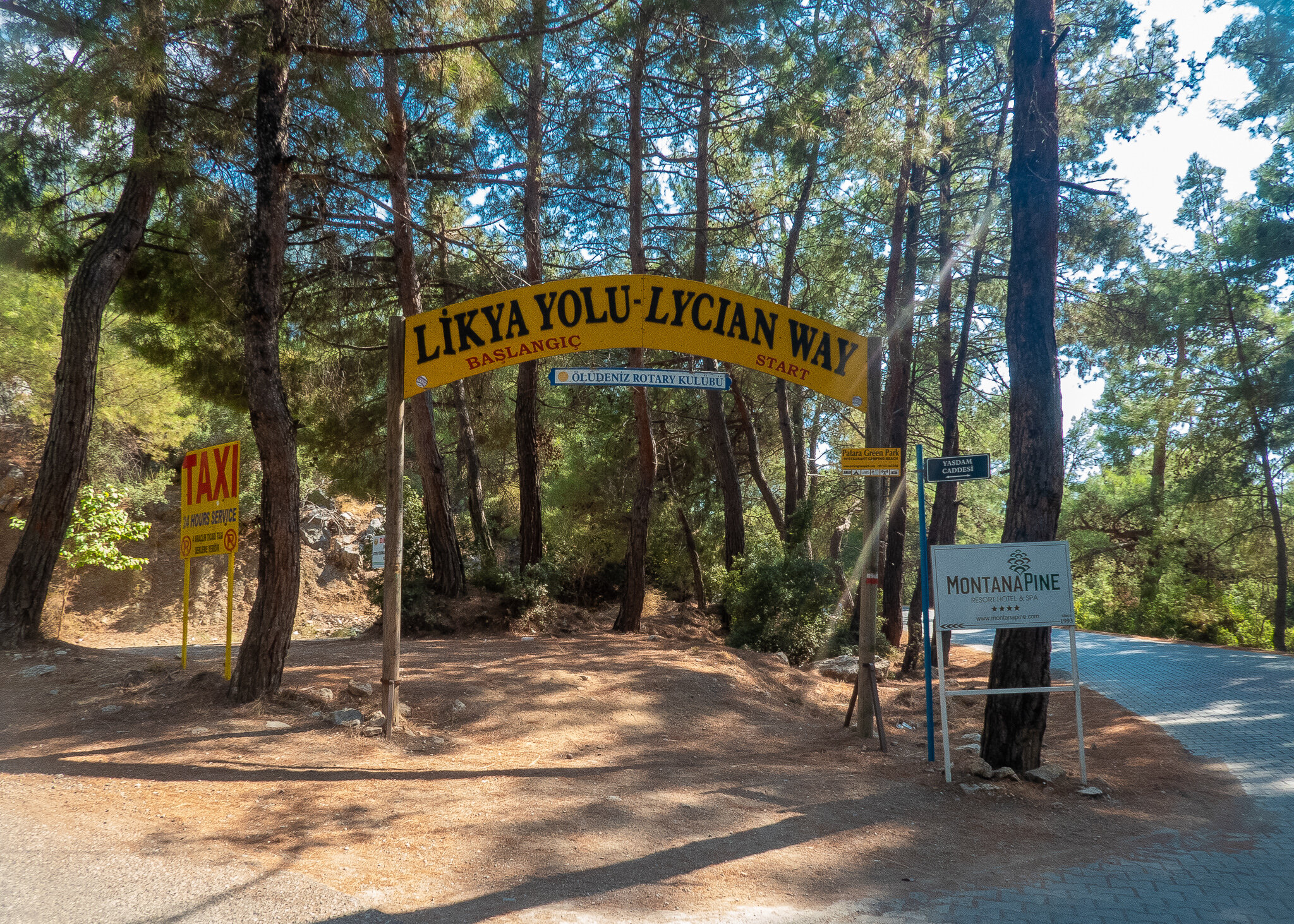 The old start of the Lycian Way