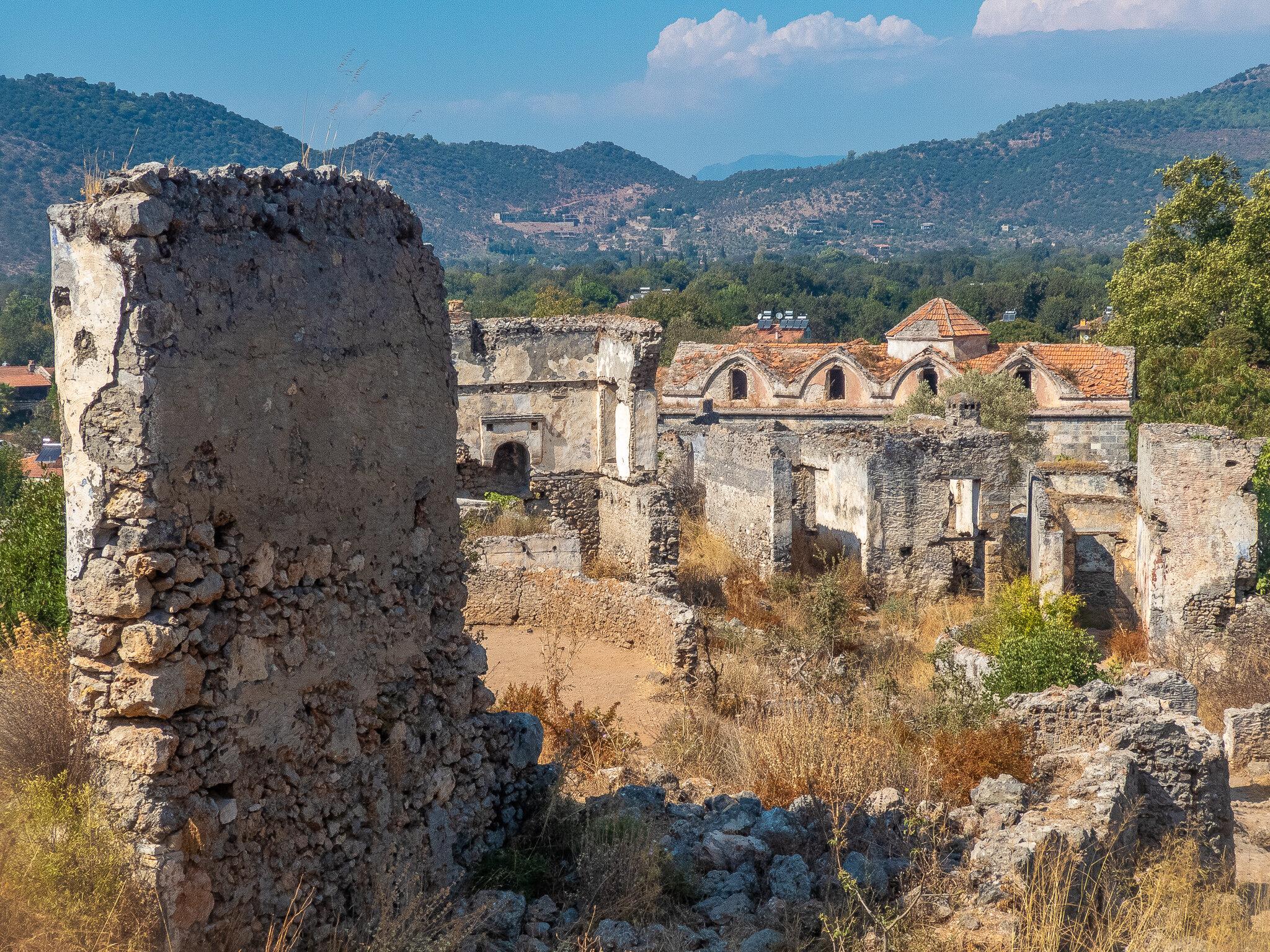 More ruined buildings