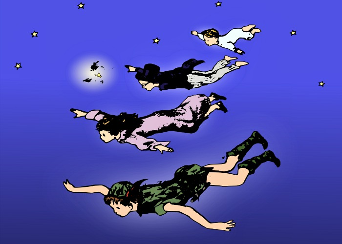 Peter Pan Flying, by j4p4n, openclipart.org.