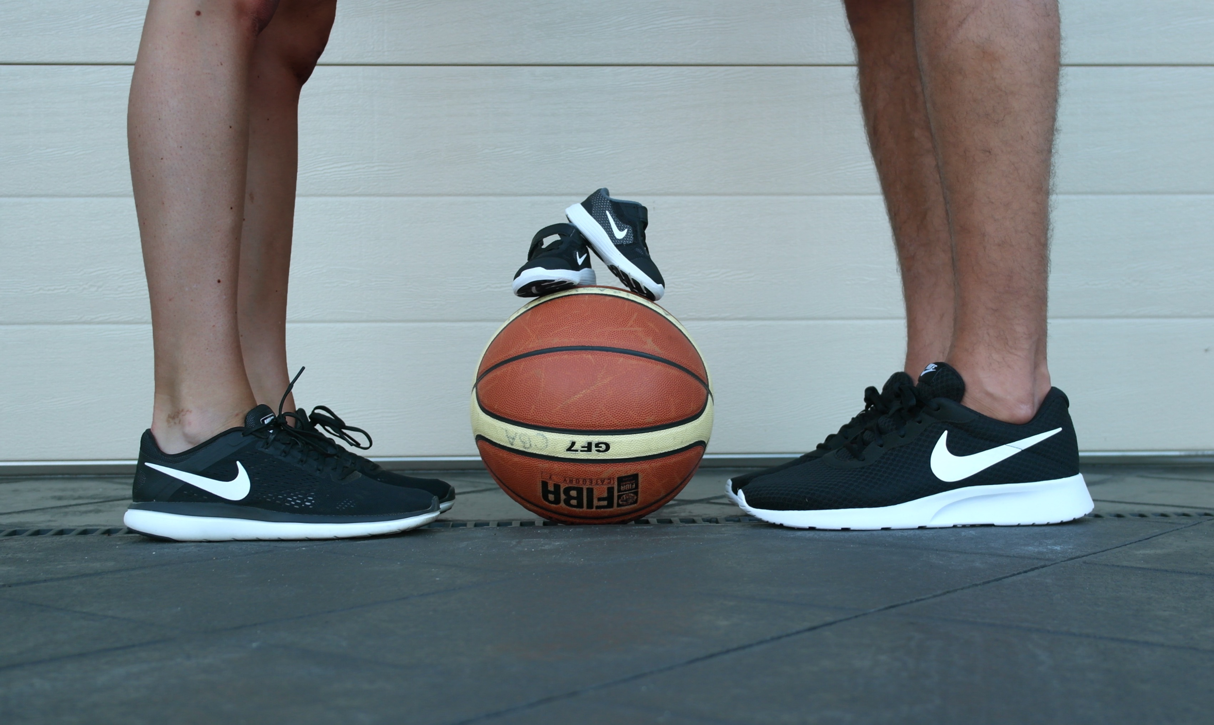 our social media pregnancy announcement (hubby is a basketball player, it's how we met)