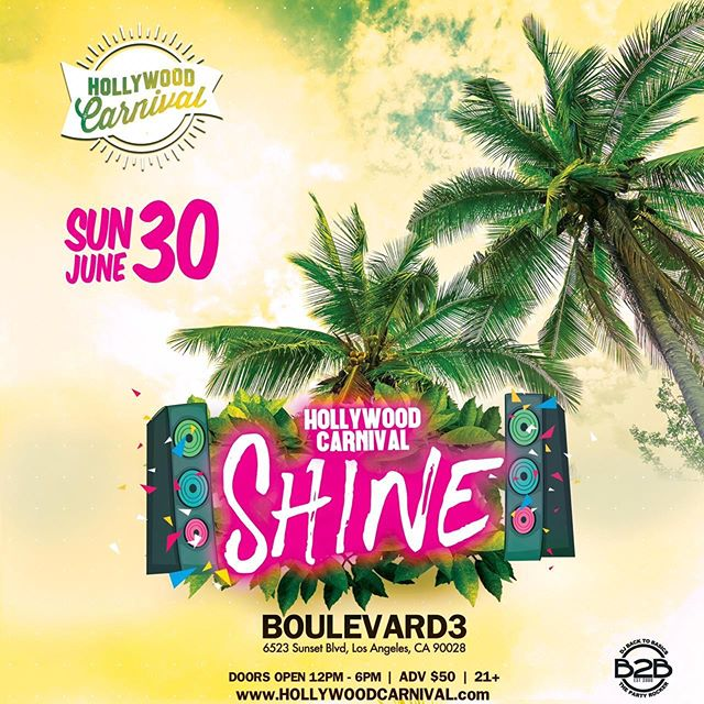 "🚨PACKAGE DEAL ALERT 🚨 one Ticket Two Events - Log on now to purchase your limited Package Ticket for ""Hollywood Carnival Shine & Shine Relapse"" Sunday June 30th www.HollywoodCarnival.com #HollywoodShine #ShineRelapse"