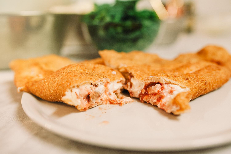 pizza margherita fritta