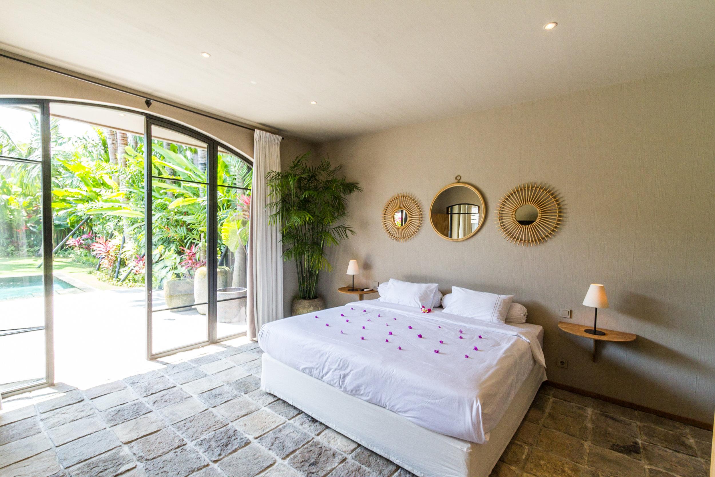 Villa Nehal bedrooms bali management villas seminyak