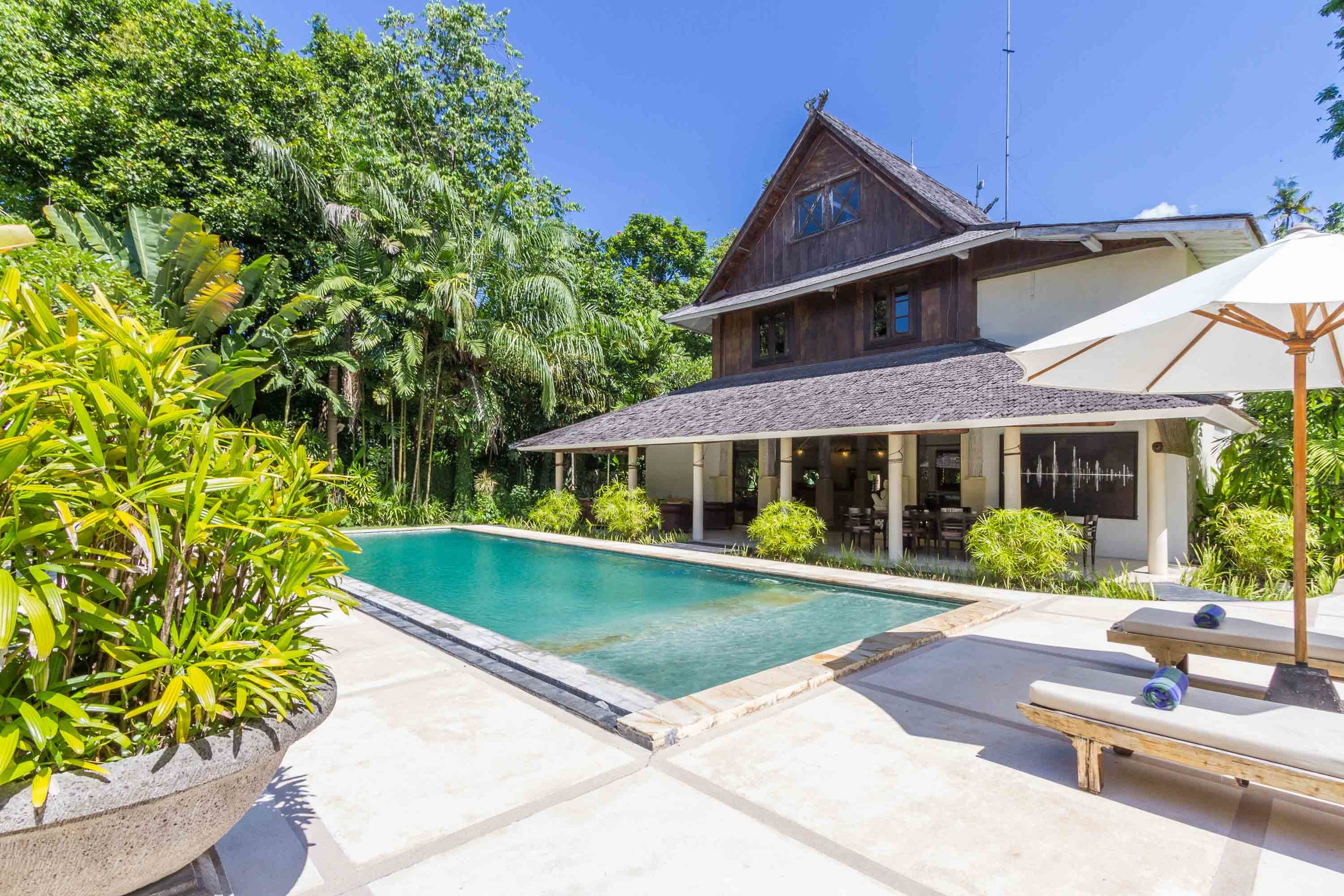 Sumatra culture inspired, exotic design villa nestled in the booming area of Batu belig.