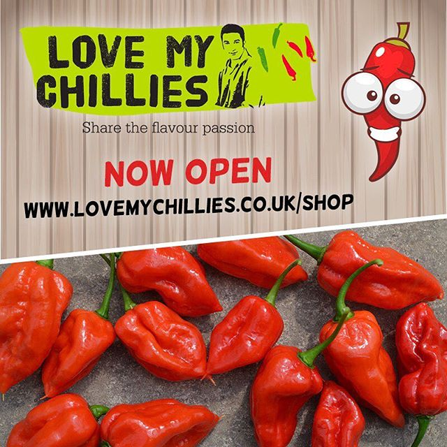 Our world famous chillies, from the plant to your plate! In something new for Love My Chillies, We're excited to launch the start of our online store! We are now giving you the chance to buy in bulk directly from us. Initially we just have the Komodo Dragon Chilli available, (FREE P&P) but more of our range will be added soon. . Link in bio