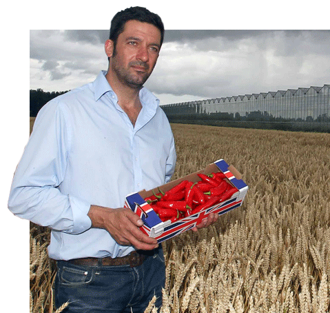 My love of chillies... - My name is Salvatore Genovese and my family have been farming for generations in Blunham, Bedfordshire. With my Italian heritage I'm passionate about sharing my love of chillies with you.After graduation from agricultural college, I dreamed of being the first person to commercially grow chillies in the UK. By turning the family farm's greenhouses over to chillies, my dream became a reality, and soon everyone wanted our chillies. We harvest millions upon millions a year making Blunham the chilli growing capital of England!
