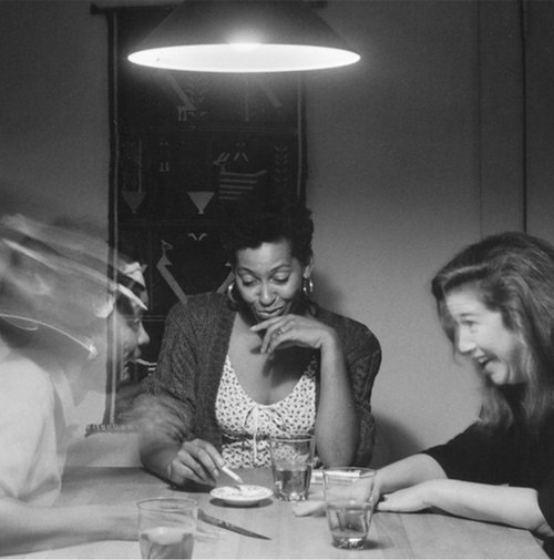 """The Kitchen Table Stories"" by Carrie Mae Weems expresses much more than dining activities in the table; revealing to us her relationships with lovers, children and friends."