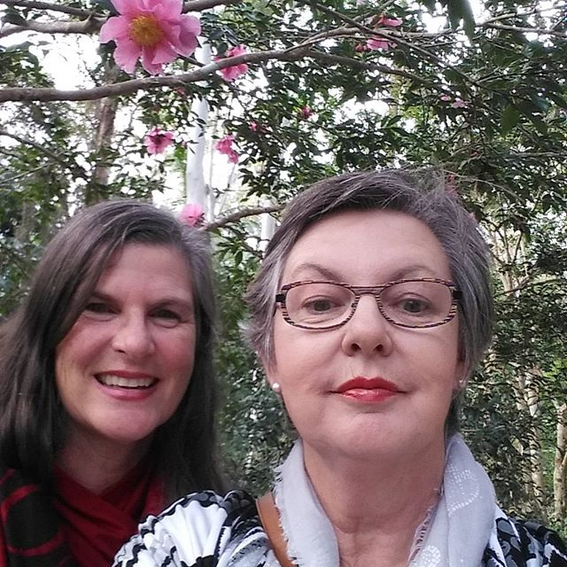 Great day at the Botanical Gardens Mt Tambourine with my bestie #art  #flowers  #artist