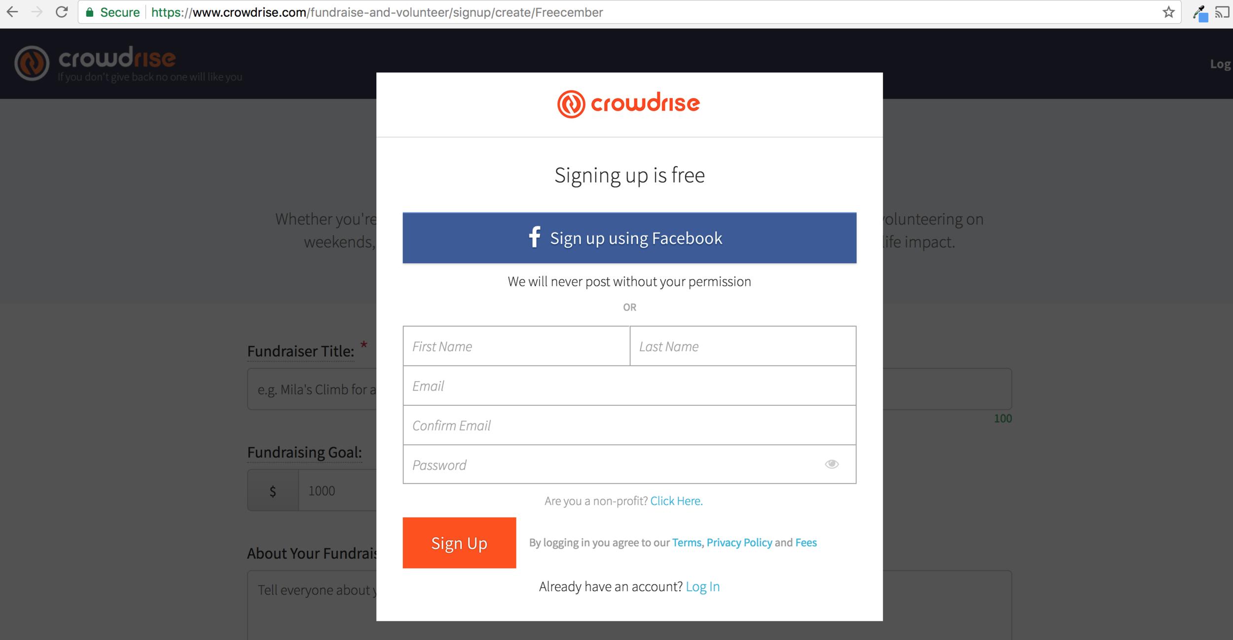 Freecember Set Up Team Crowdrise 2.png
