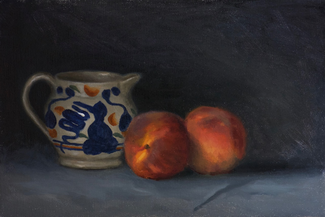 Jug and Peaches
