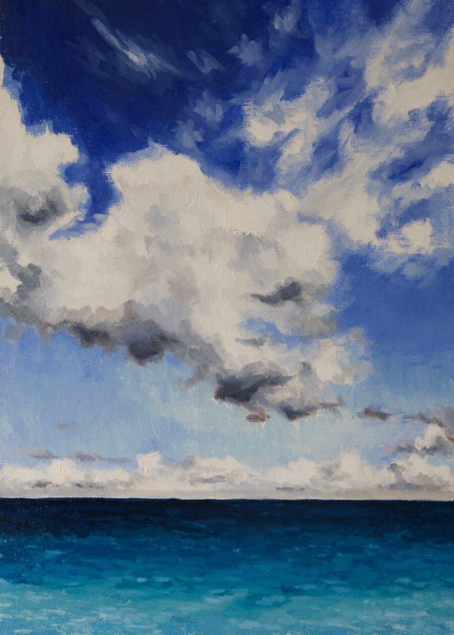 Copy of Copy of Midday Dark Blue 35cm x 25cm