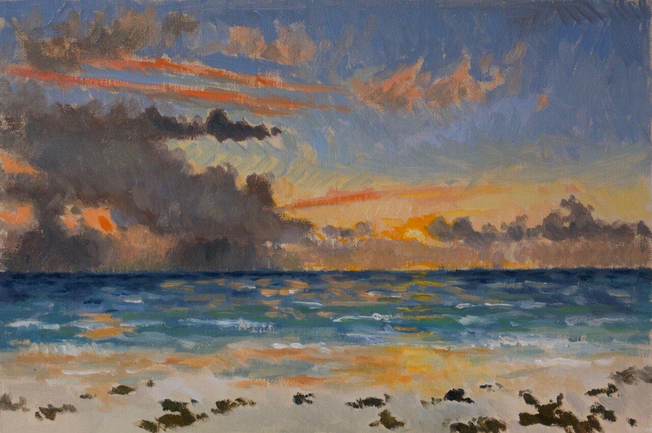 Copy of Copy of Sunrise, Harbour Island 20cm x 30cm