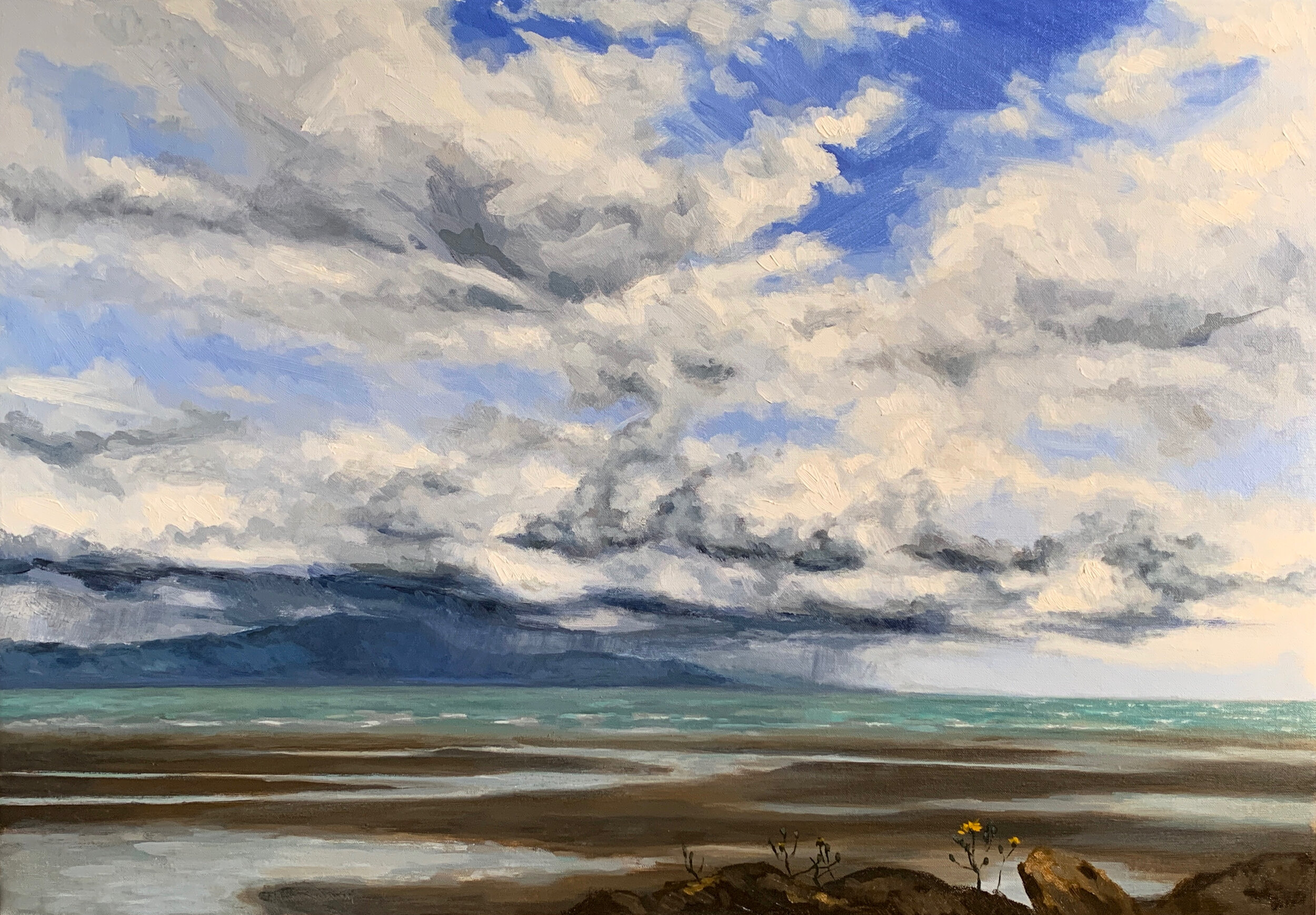 Copy of Copy of Rain over Clougherhead 45cm x 65cm