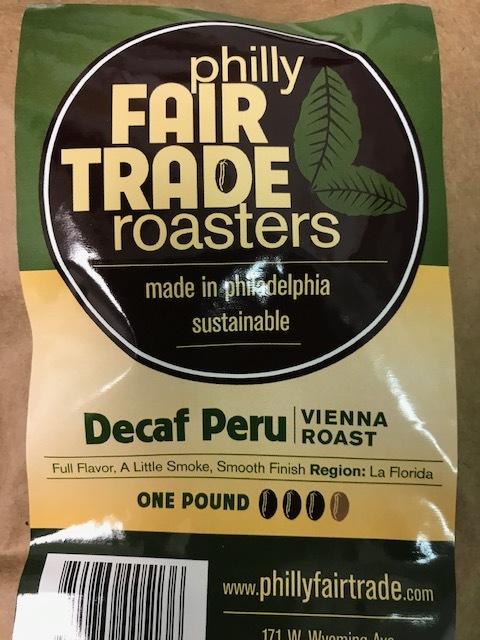 Philly Fair Trade Decaf Peru Coffee