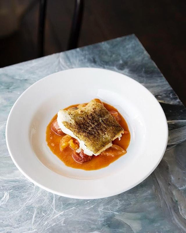 Cod, tomatoes, bisque....