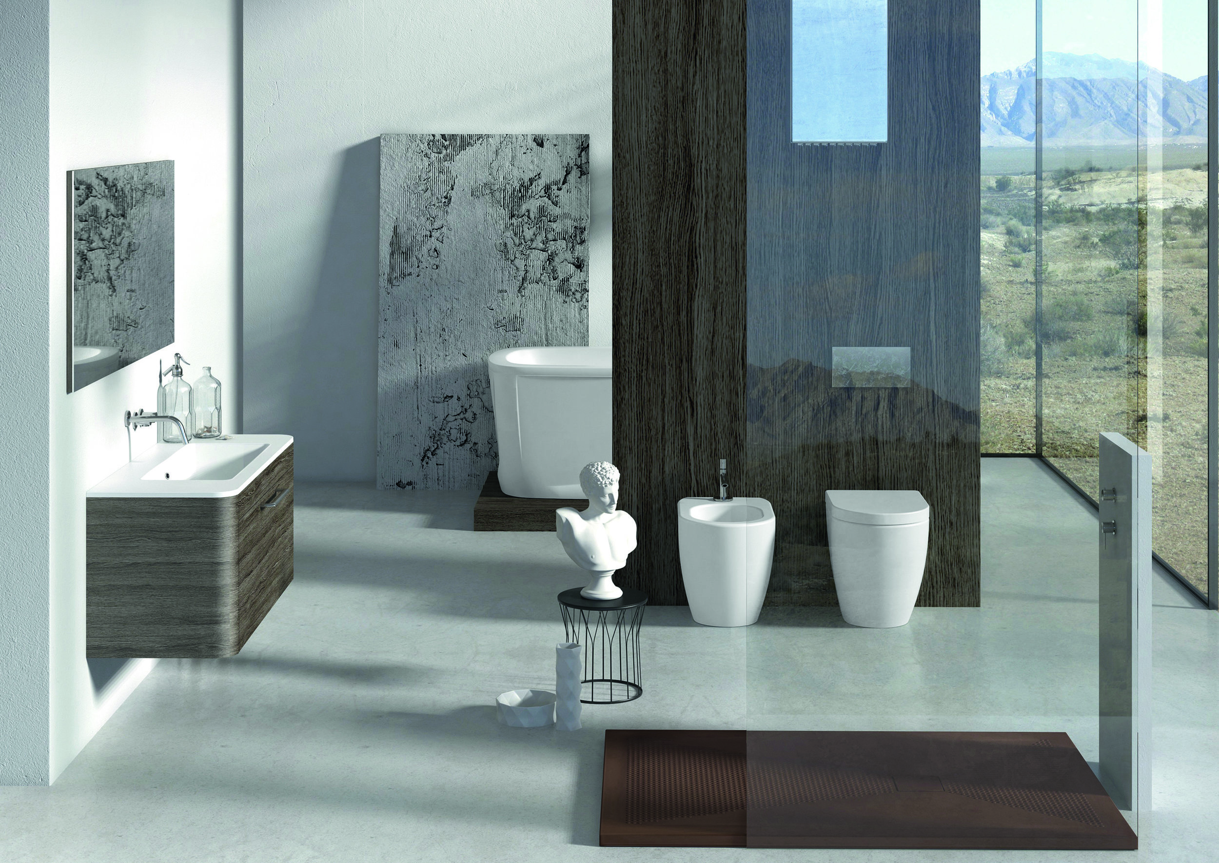 Althea Cover Back to Wall WC/ Bidet