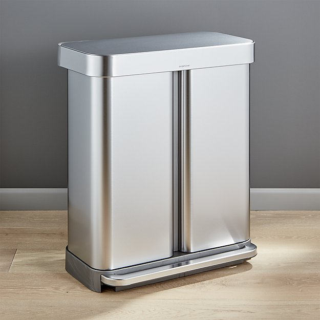 Recycler Pedal Bin 58L Brushed Steel CW2025
