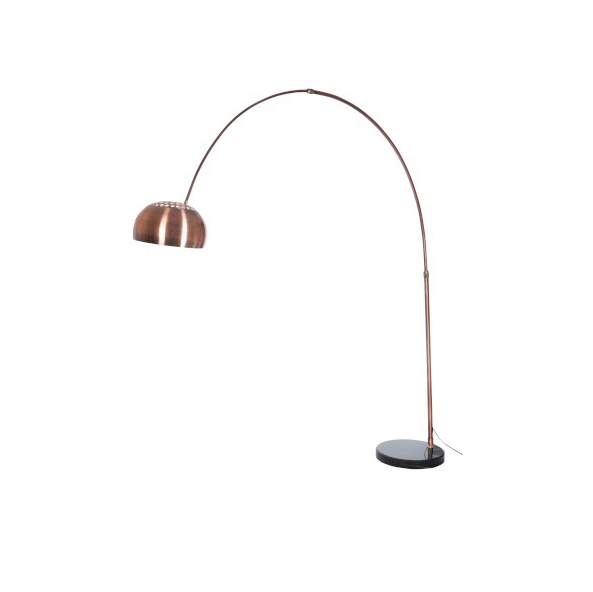 Standing Lamp Arch Copper / Marble Copper (also available in Silver)