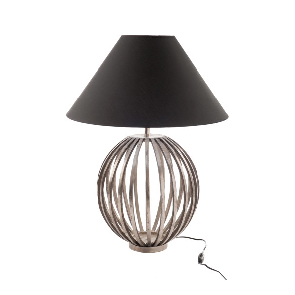 Lamp & Shade Pumpkin Aluminium Silver M (also available in large)