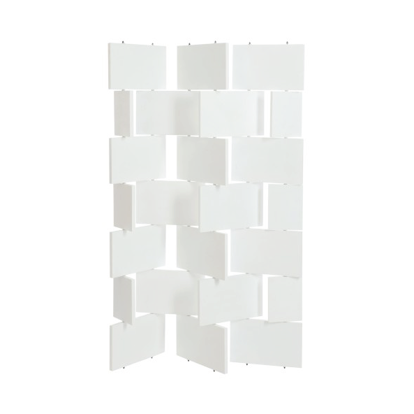 Screen Wood, White, 124x178x2CM