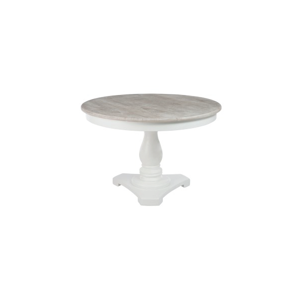 Round Table, Wood, Cream, 120x120x75CM