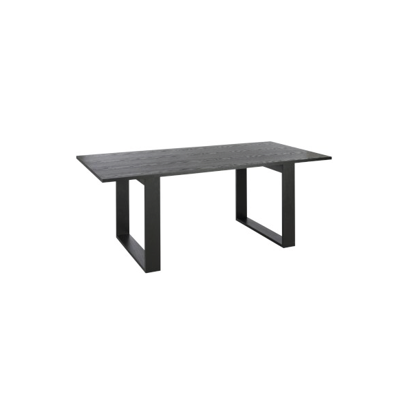 Rectangular Dining Table, Wood, Black, 200x100x75CM