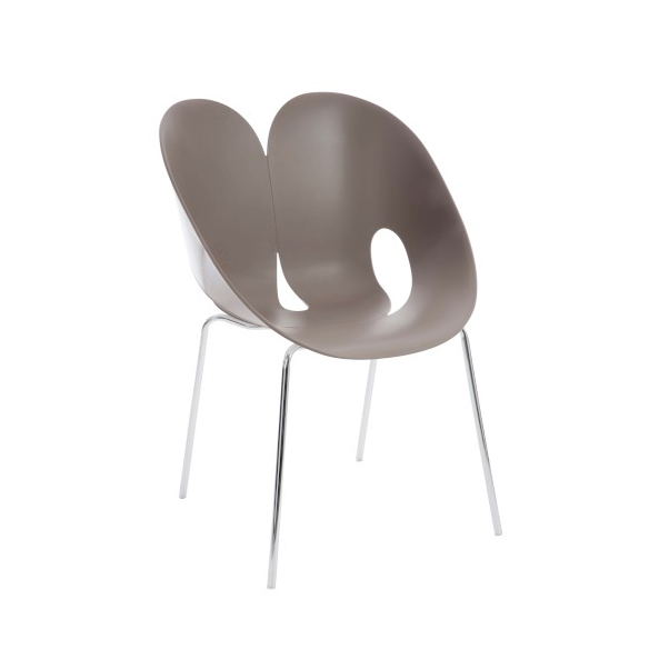 Chair Jens, Polypropylene/ Metal, Taupe