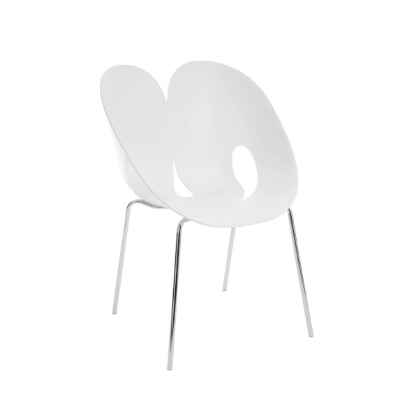Chair Jens, Polypropylene/ Metal, White