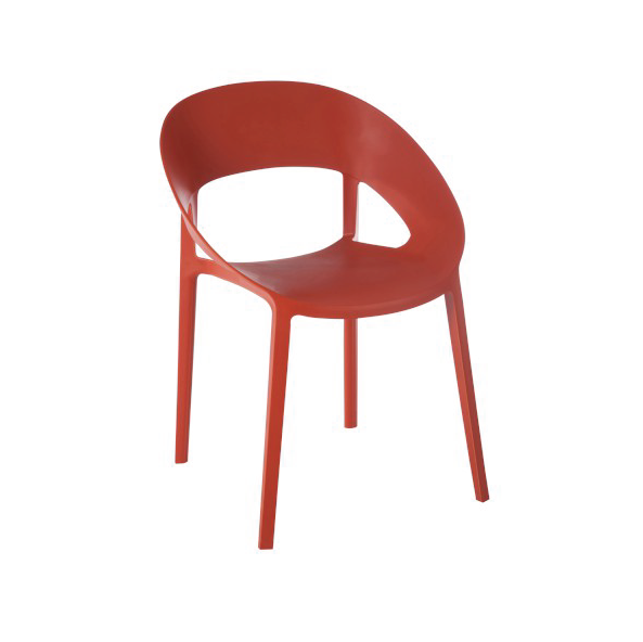 Chair Lola, Polypropylene, Orange