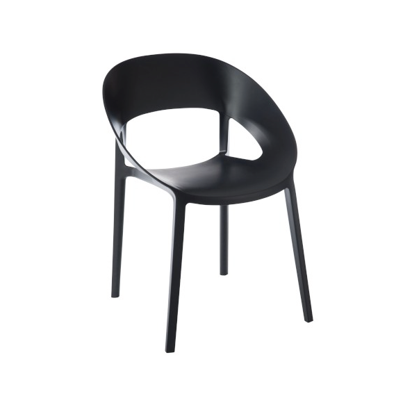 Chair Lola, Polypropylene, Black