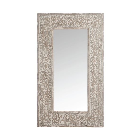 Rectangular Mirror, Boho, Wood / Sand