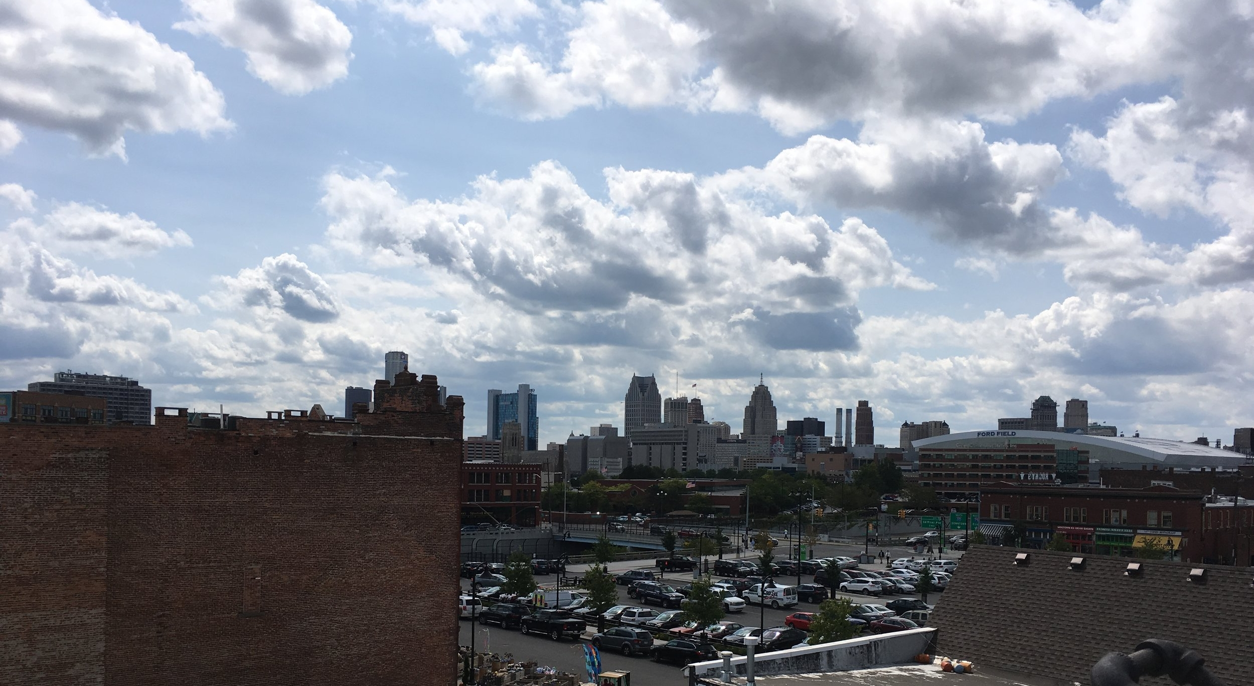 Roof top view of downtown.
