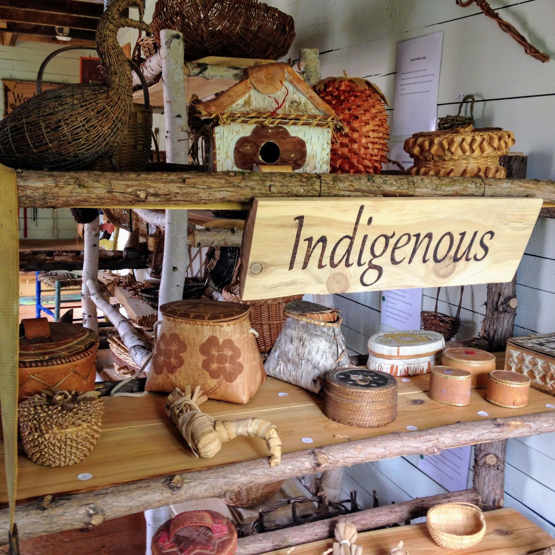 Exhibit of indigenous baskets