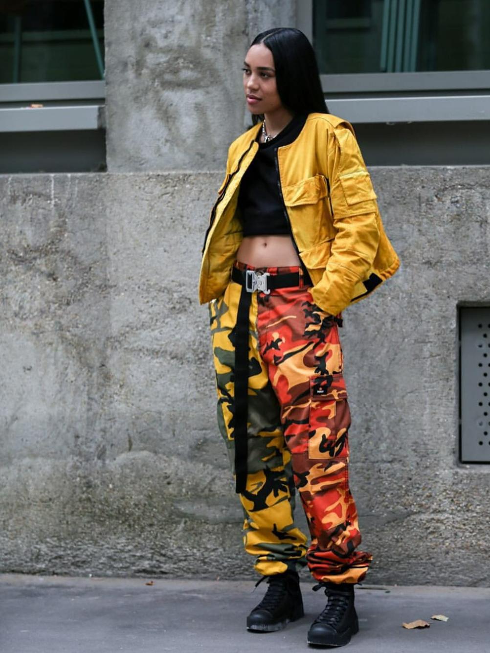 Colored camo pants -