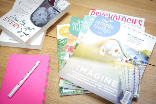 Magazine and Books to use at workshops and coaching helping women to ditch the diet with positive body image