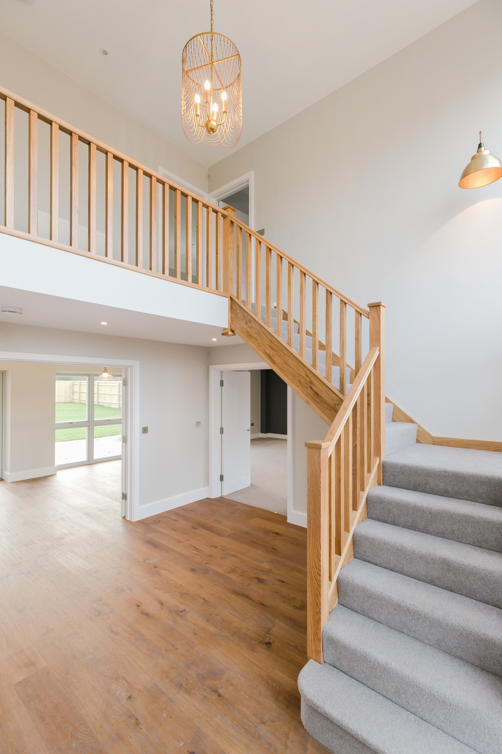 Breedon House – hall and oak staircase