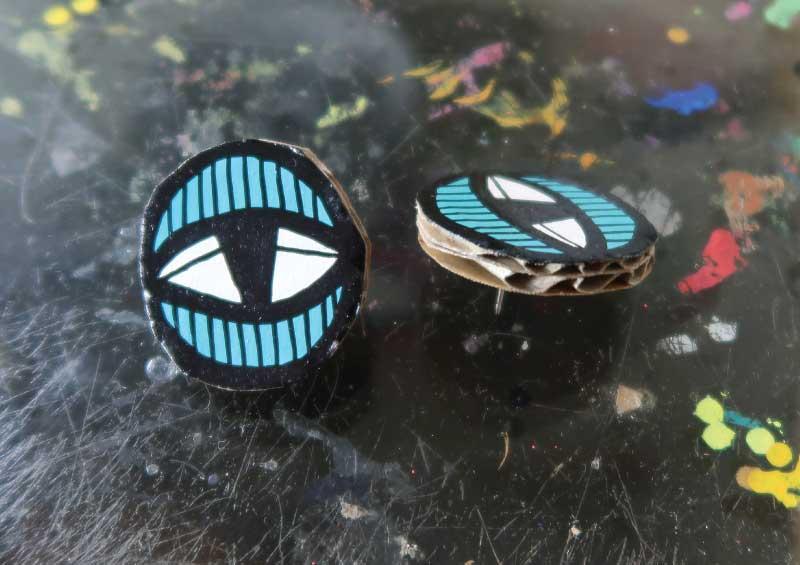 20171850 Eye Studs - Blue