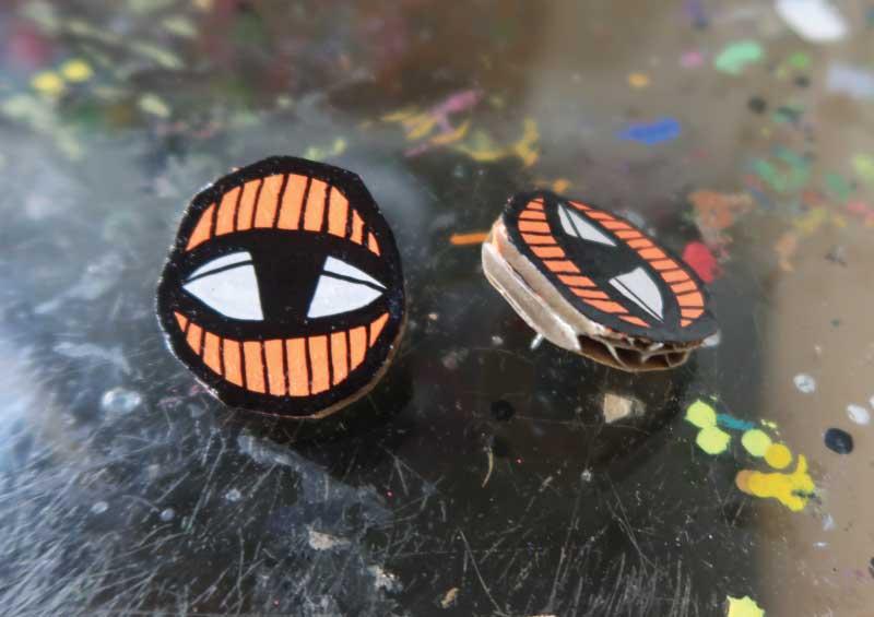 20171853 Eye Studs - Orange