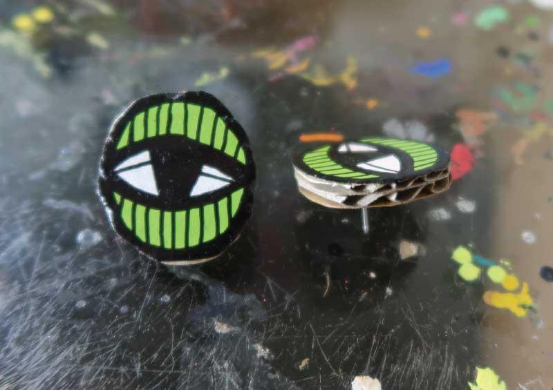 20171854 Eye Studs - Green