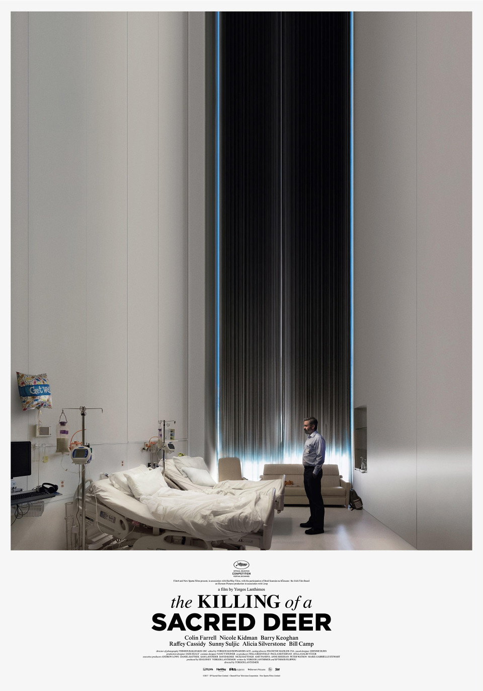 Killing of a Sacred Deer. - Director: Yorgos LanthimosMusic Supervision: SixtyFour MusicSynopsis: Dr. Steven Murphy is a renowned cardiovascular surgeon who presides over a spotless household with his wife and two children. Lurking at the margins of his idyllic suburban existence is Martin, a fatherless teen who insinuates himself into the doctor's life in gradually unsettling ways. Soon, the full scope of Martin's intent becomes menacingly clear when he confronts Steven with a long-forgotten transgression that will shatter his domestic bliss forever.Cannes Film Festival 2017 Winner: Best ScreenplayCannes Film Festival 2017 Nominee: Palme d'Or